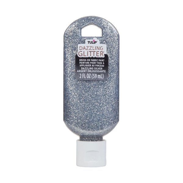 Picture of Dazzling Glitter Brush-On Fabric Paint Dazzling Silver 2 oz.