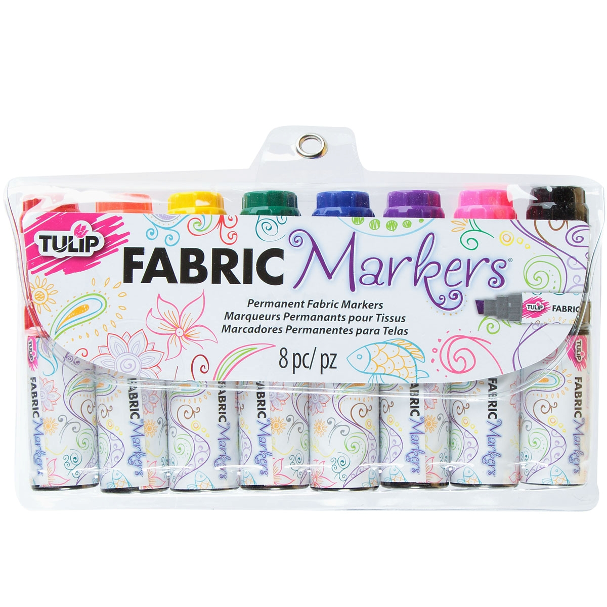 Picture of Jumbo Chisel Tip Fabric Markers 8 Pack