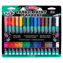 Fabric Paint Markers Rainbow 15 Pack