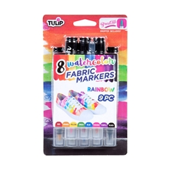Picture of Tulip® Watercolor Fabric Markers Rainbow 8 Pack