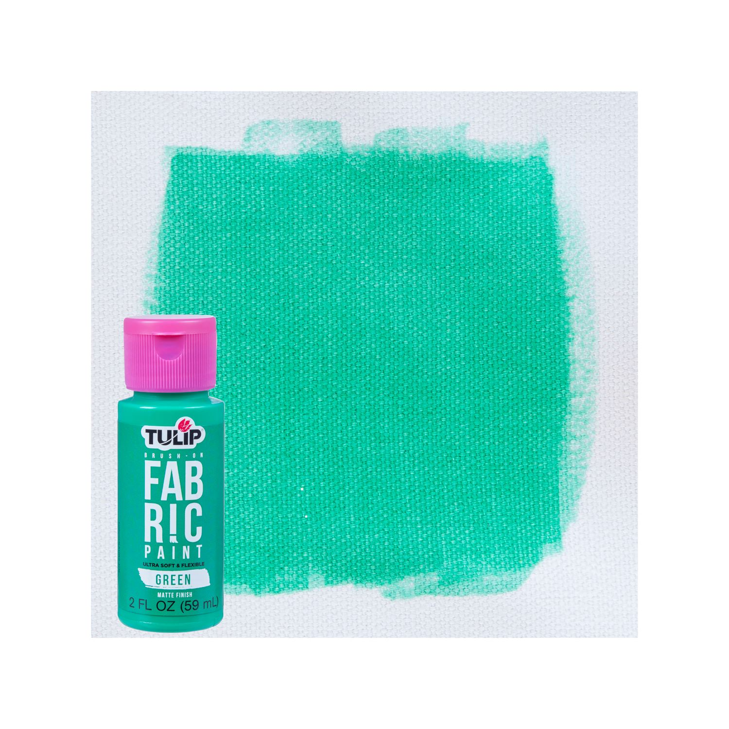 Picture of Brush-On Fabric Paint Green Matte