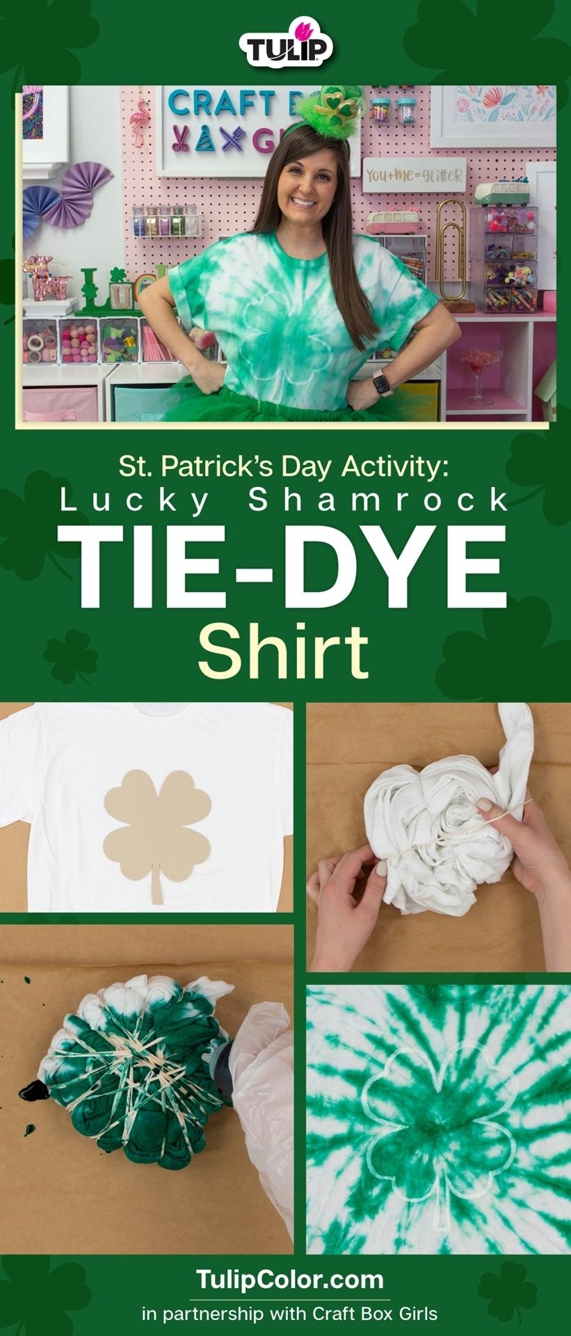 St. Patrick's Day Activity: Shamrock Tie Dye