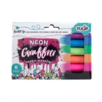 Picture of Graffiti Bullet Tip Neon Fabric Markers 6 Pack