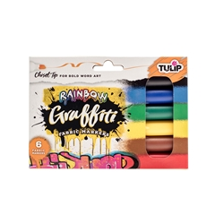 Picture of Graffiti Chisel Tip Rainbow 6 Pack