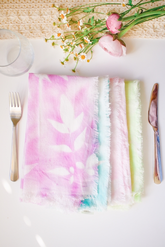 Tie-dye cloth napkins