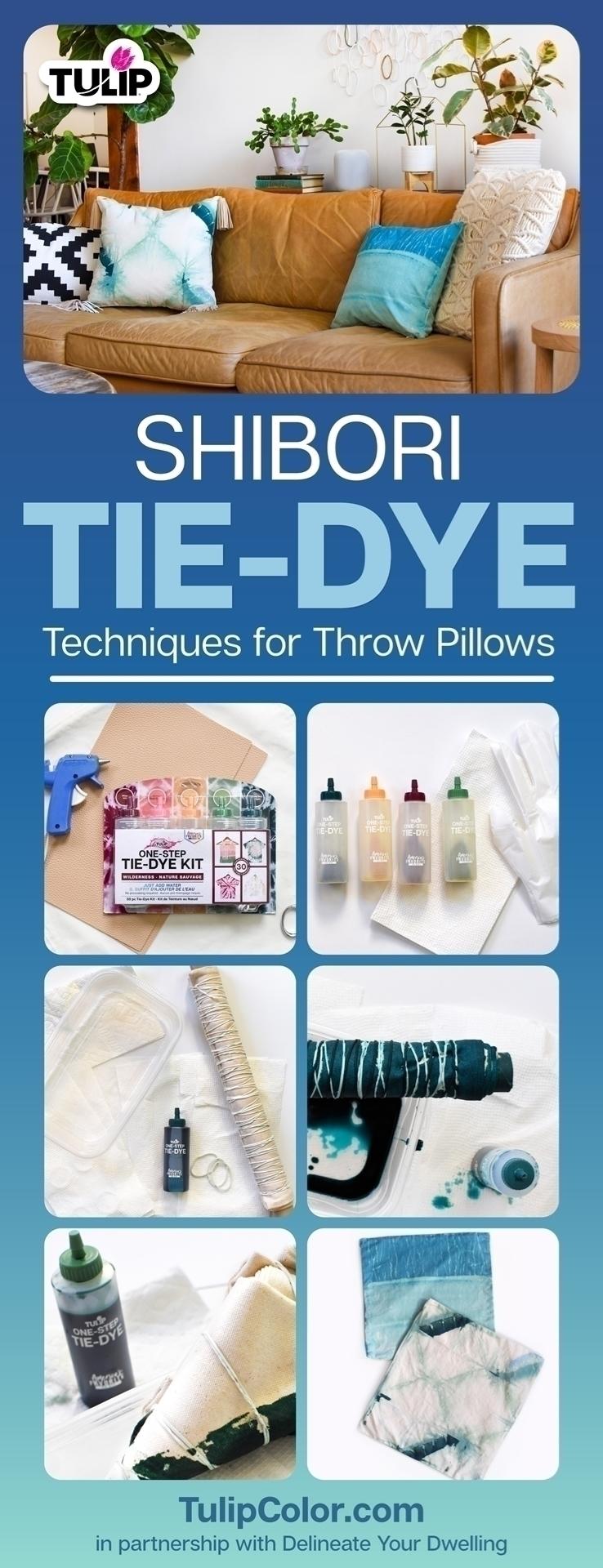 Shibori Tie-Dye Techniques for Throw Pillows