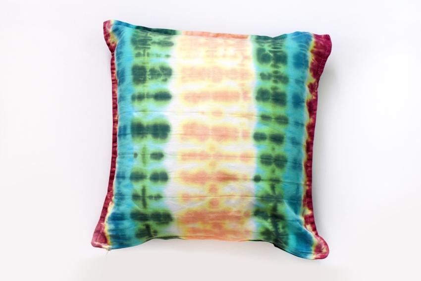 Striped Tie-Dye Pillow