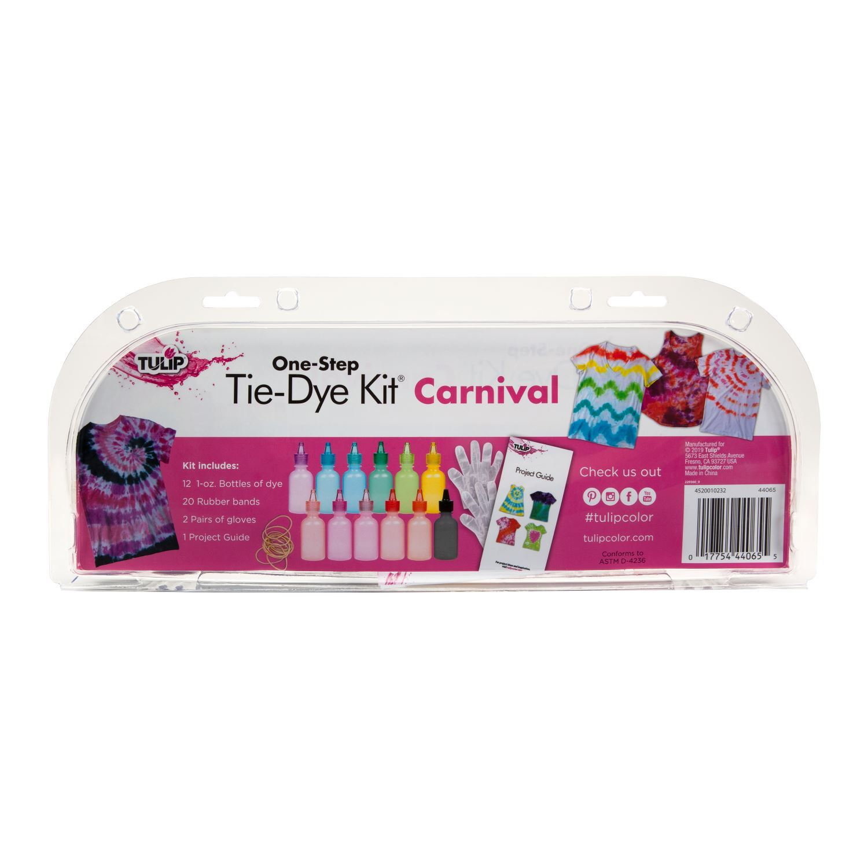 One-Step Tie-Dye Kit Carnival 12-Pc. Mini Kit back package
