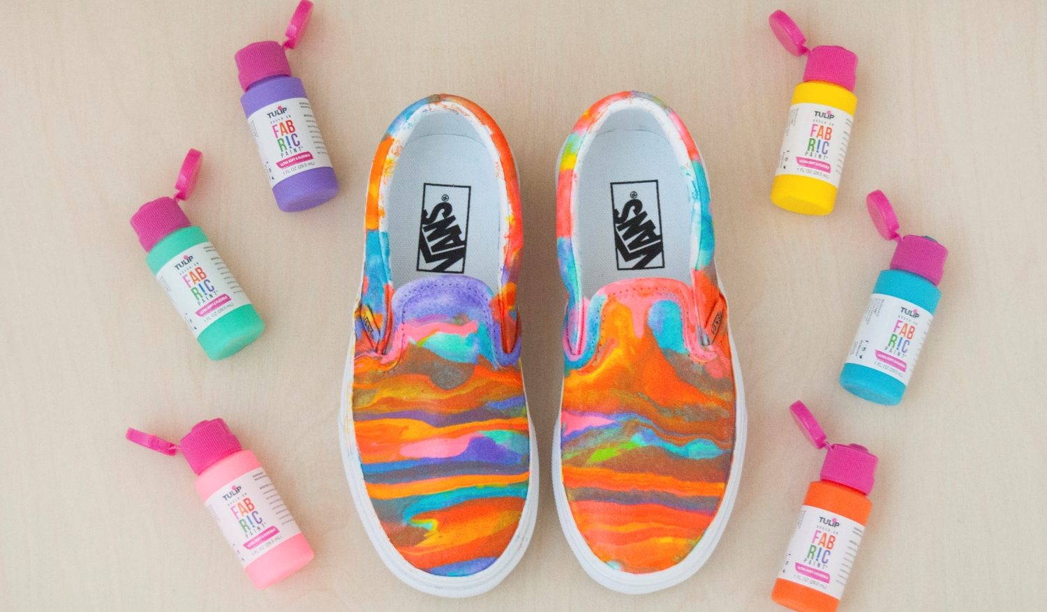 Dirty Pour Paint Pouring Tutorial for Shoes