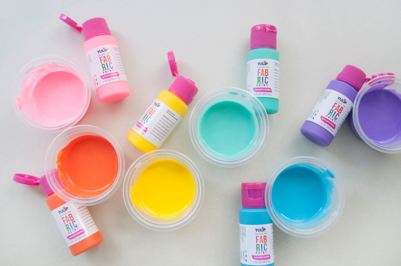 Mix 4 parts paint with 1 part glue/water mix