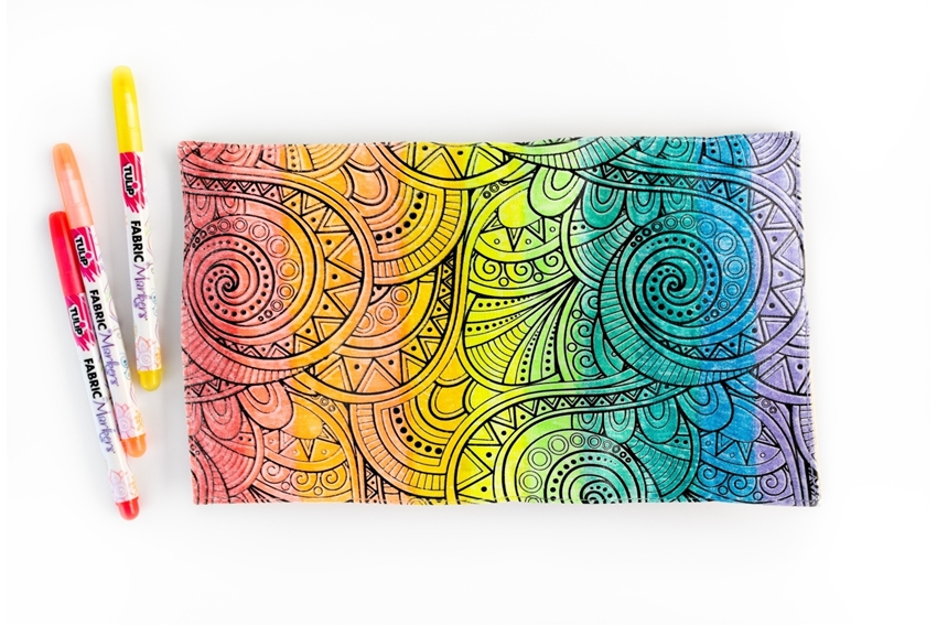 Rainbow Ombre Roll-Up Case