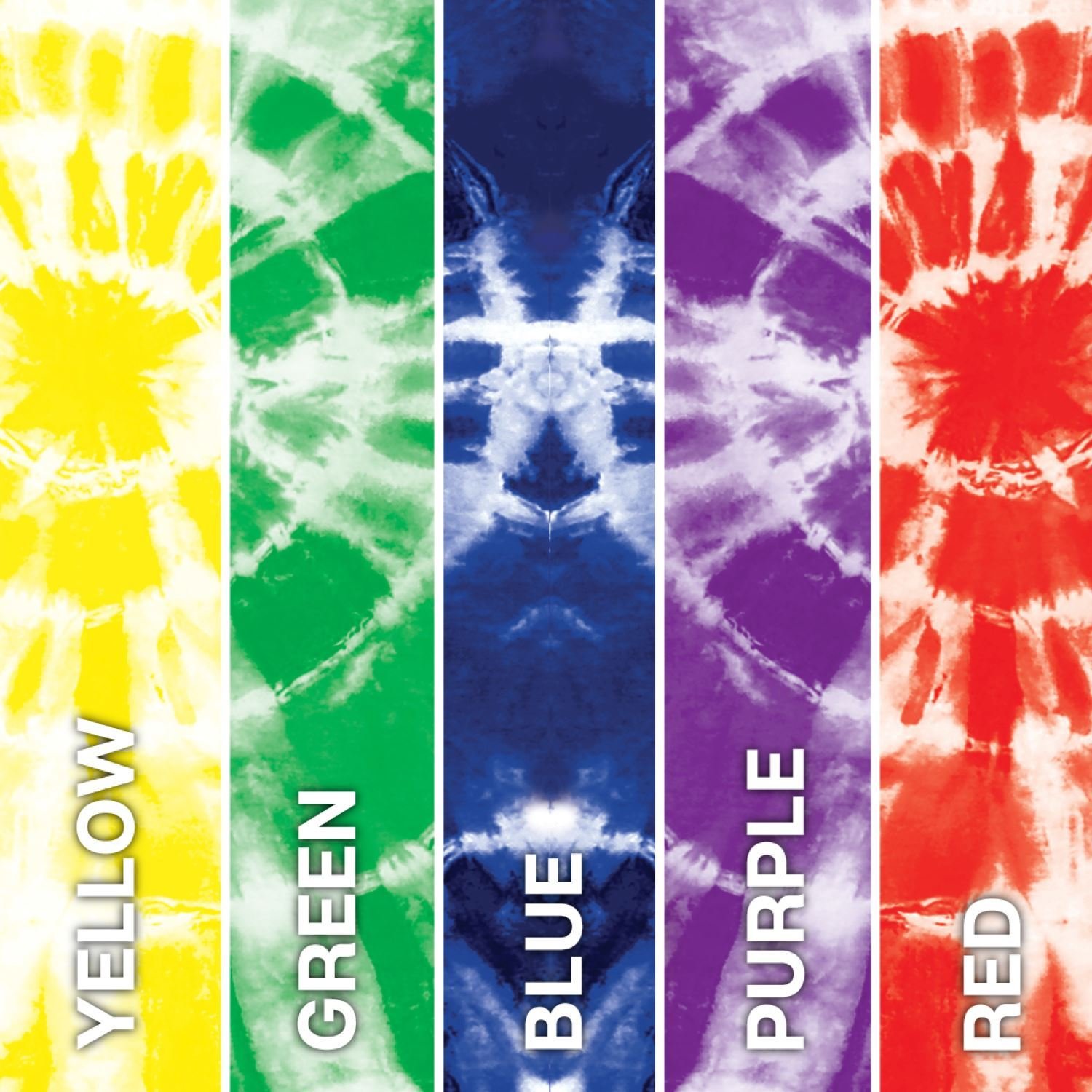 Rainbow One-Step Tie-Dye Road Trip Kit color swatches