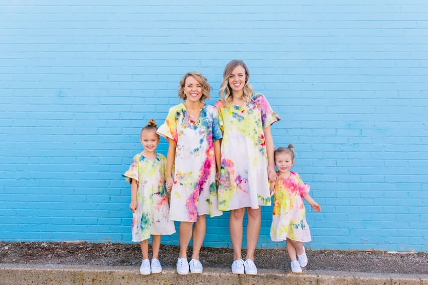 Picture of Mommy and Me Tie-Dye Dresses