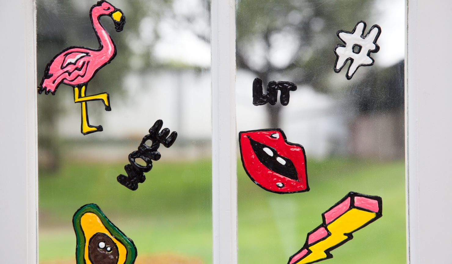 How to Make Window Clings with Dimensional Paint