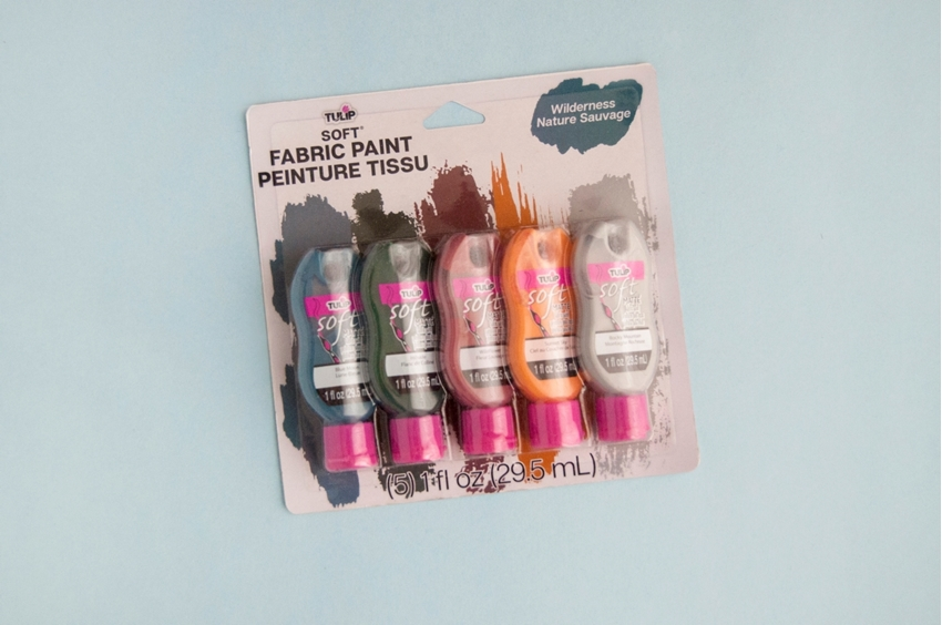 Choose Soft Fabric Paints in desired color palette