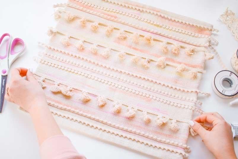 Tulip Pastel Watercolor DIY Tassel Pillows – determine trims