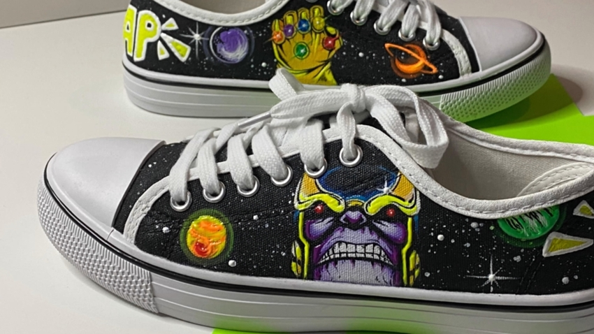 Superhero Shoes with Fabric Paint
