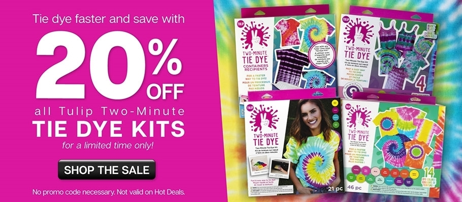 20% Off Two-Minute Tie Dye --May 2021