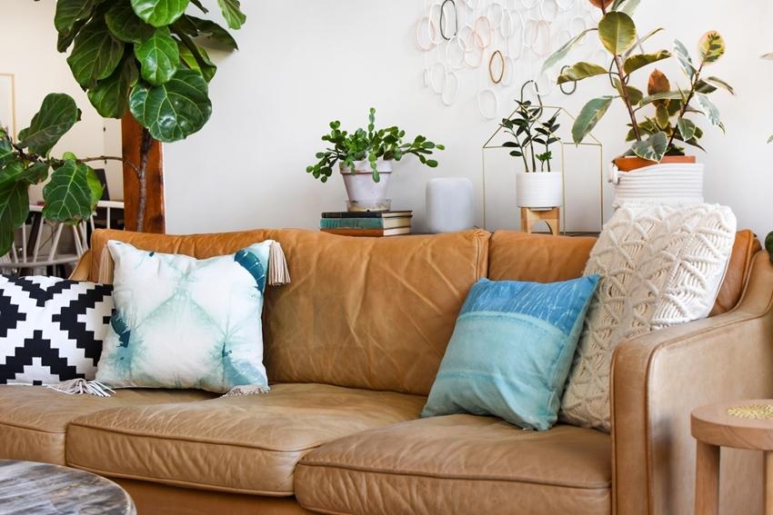 Shibori Tie-Dye Throw Pillows