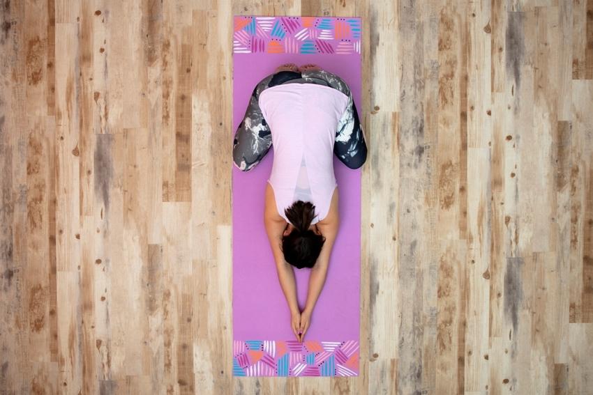 Custom-Painted Yoga Mat: