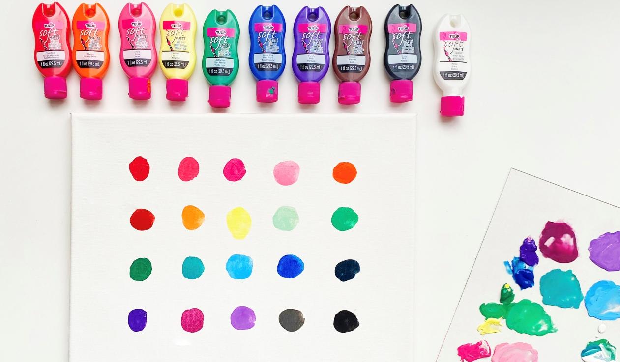 Color Mixing Canvas Art