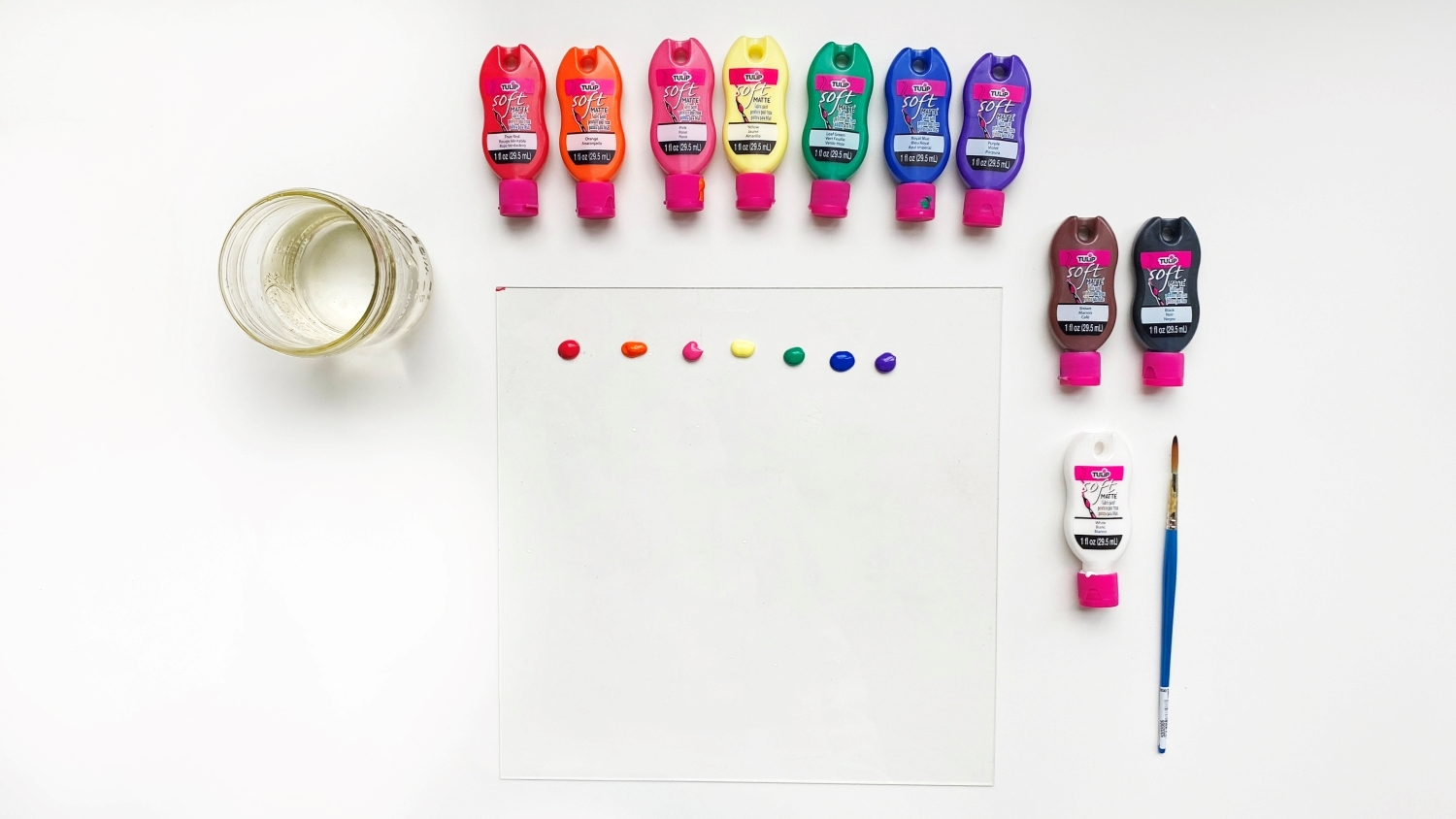 Squeeze your paint onto the palette