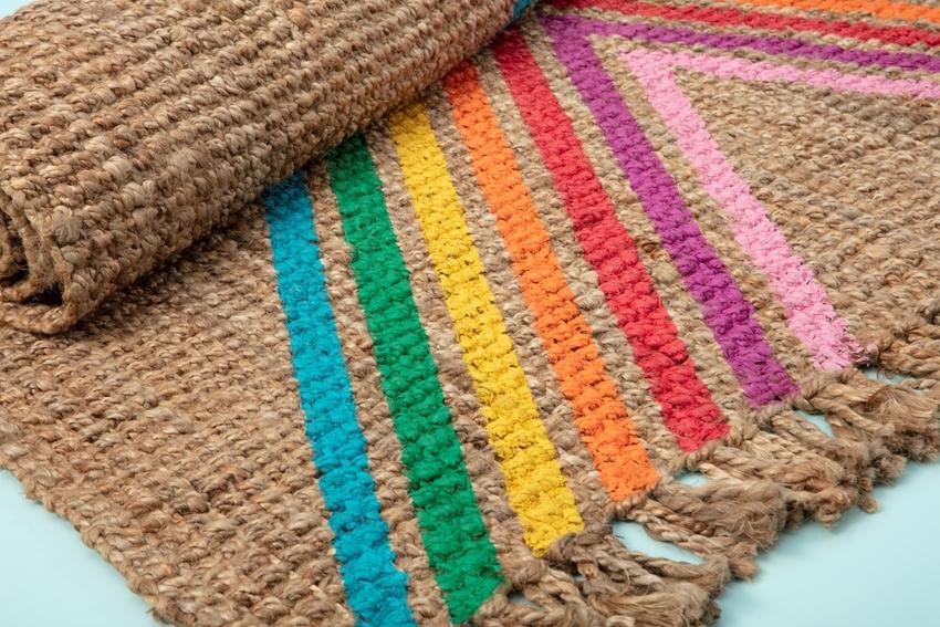 Rainbow Painted Rug
