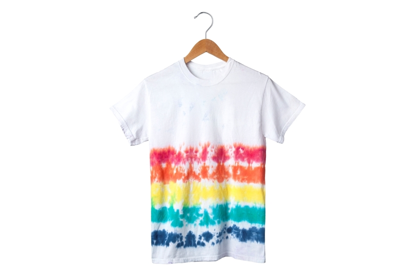 Rainbow Tie-Dye Stripes T-shirt