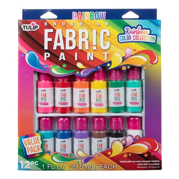 44487 Brush On Rainbow Collection 12 Pack