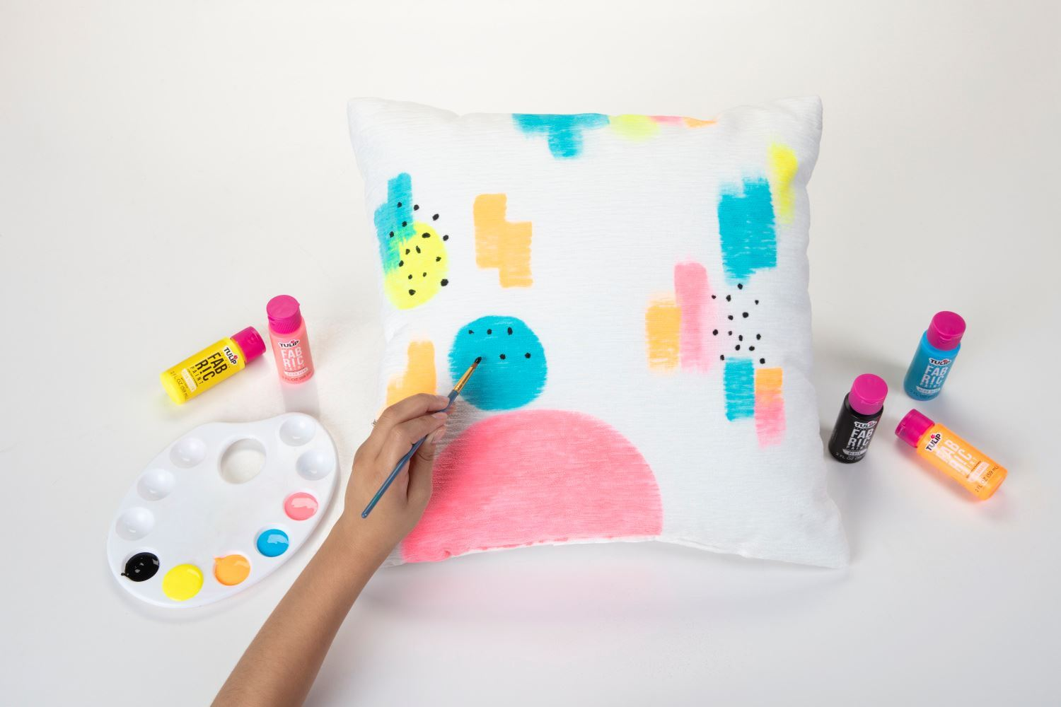 44487 Brush On Rainbow Collection 12 Pack pillow project