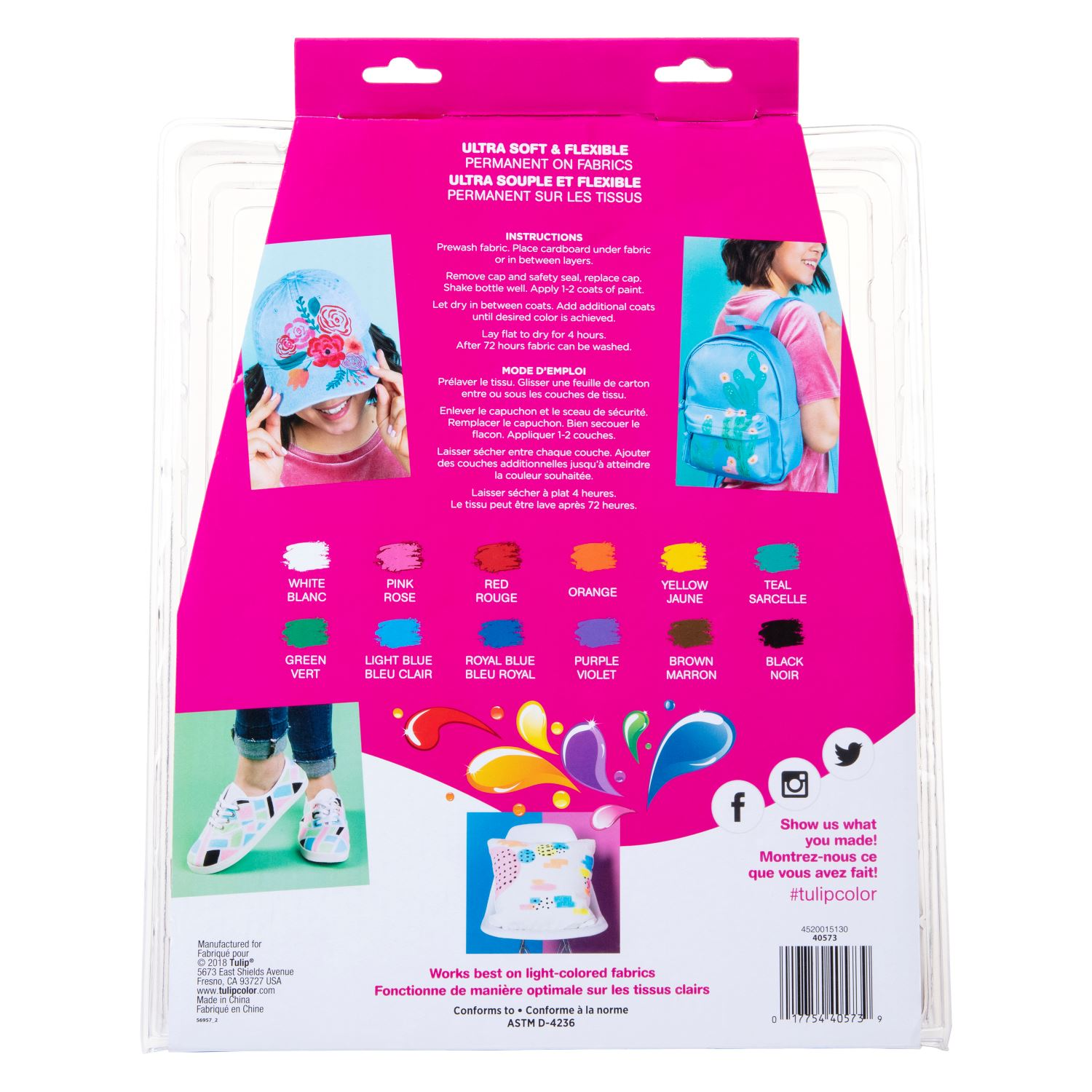 Picture of Brush-on Fabric Paint 15-Pc. Kit