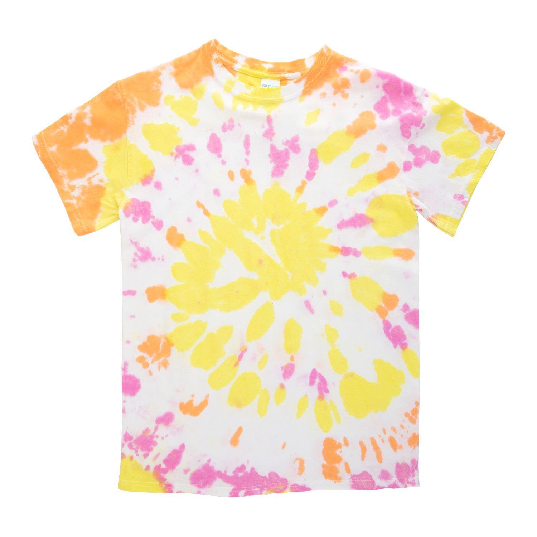 46021 Glow Tie Dye Kit swirl T-shirt project in daylight