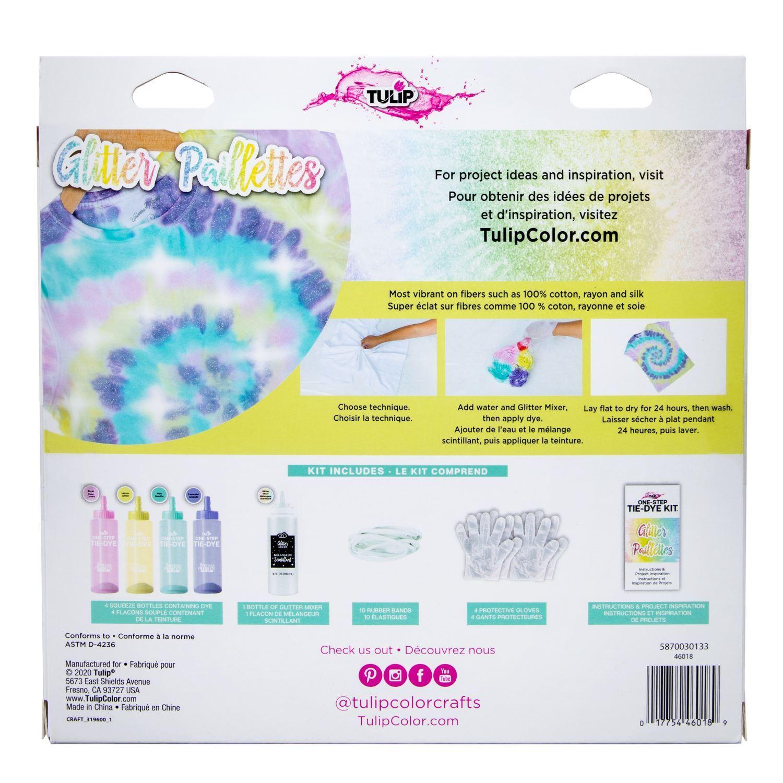 46018 Glitter Tie Dye Kit back of package