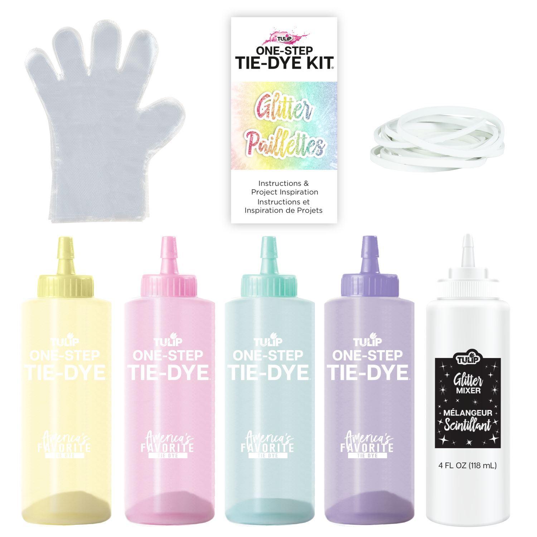 46018 Glitter Tie Dye Kit contents