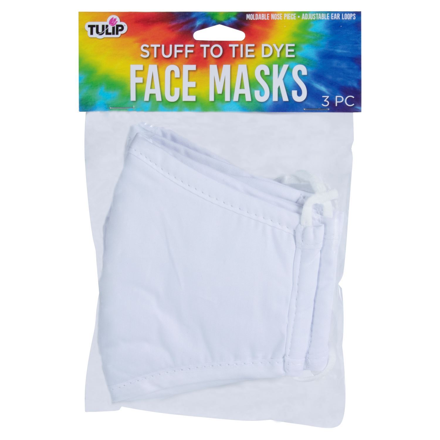 46612 Adult Face Masks 3 Pack front of package
