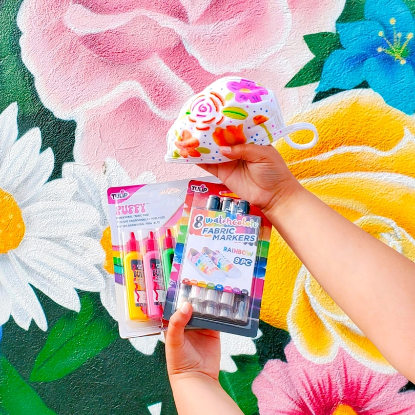 Picture of Watercolor Floral Face Mask with Tulip Products