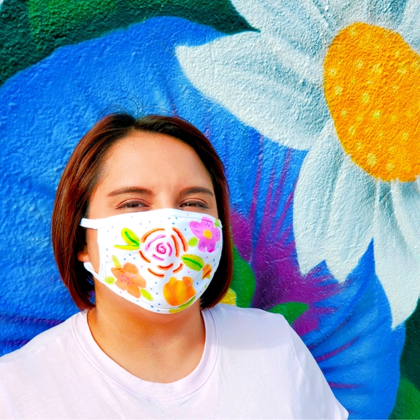 Floral Face Mask with Tulip Color Products
