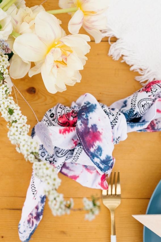 Tie Dye Handkerchief Napkins