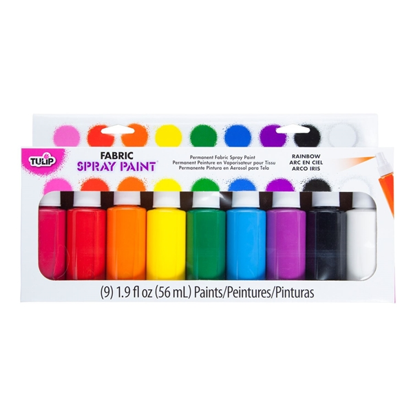 Picture of Fabric Spray Paint Party 9 Pack