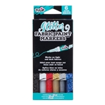 Picture of Glitter Fabric Paint Markers 6 Pack