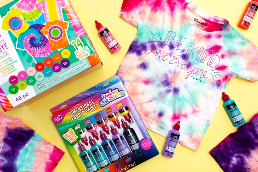 Picture of Words of Kindness Tie-Dye Shirts