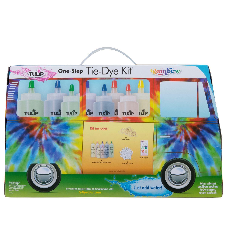 Rainbow One-Step Tie-Dye Road Trip Kit back of box