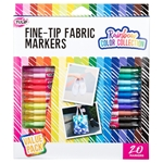 Fine-Tip Fabric Markers Rainbow Color Collection 20 Pack