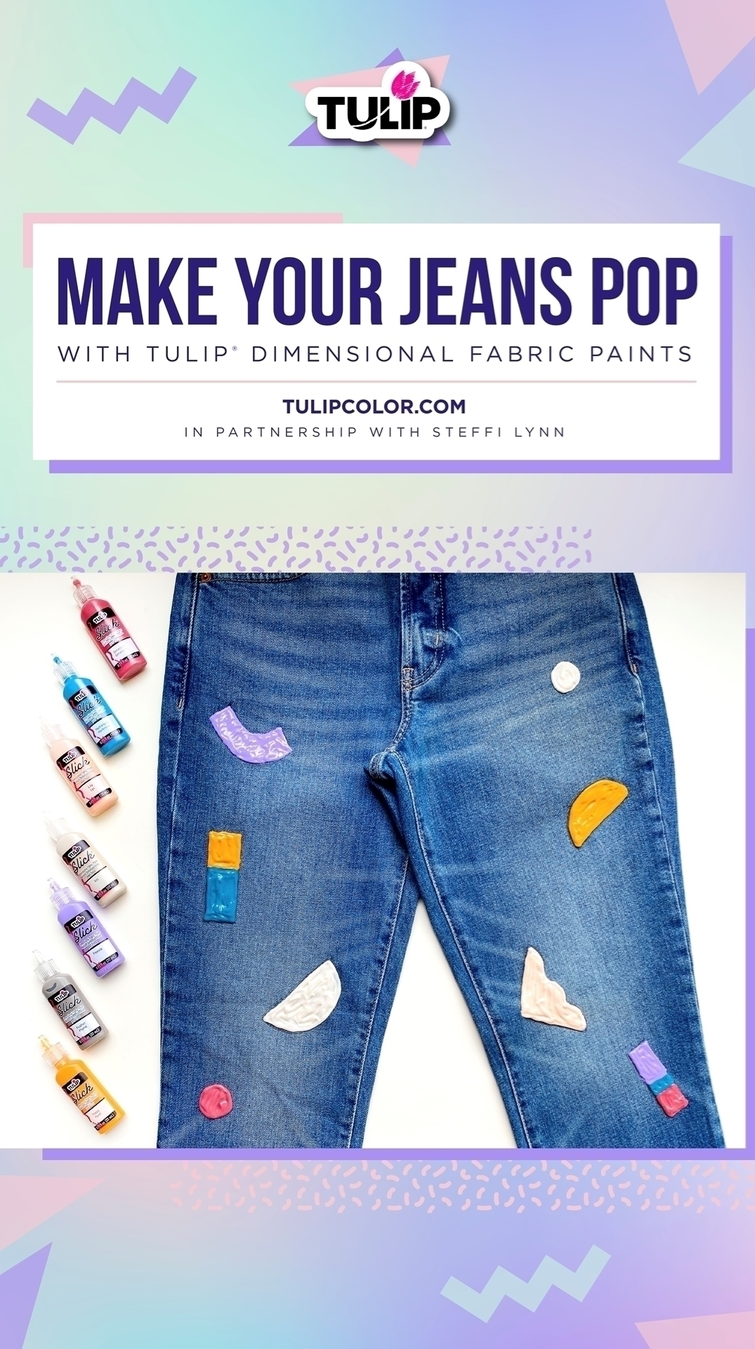 How To Paint Jeans with Dimensional Paint