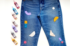 Picture of How To Paint Jeans with Dimensional Paint
