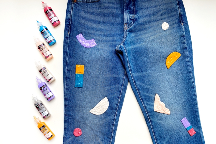 Picture of Painted Jeans with Dimensional Paint