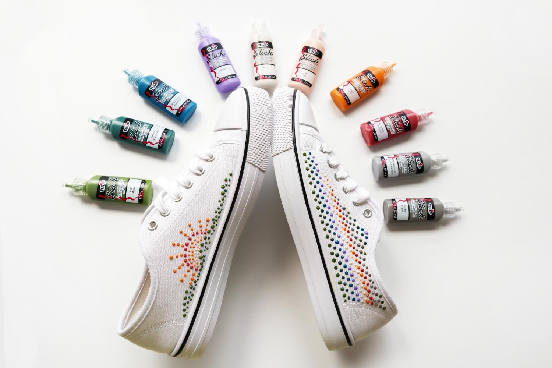 Dot Art Dimensional Paint Shoes