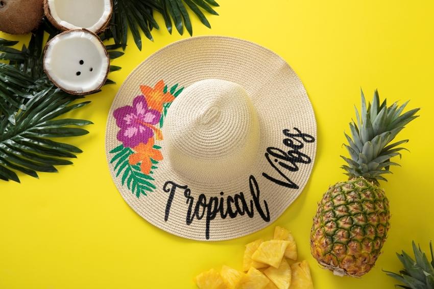 Painted Summer Sun Hat