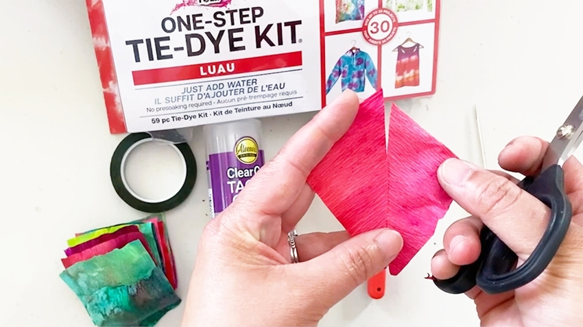 Flip one side over to form kite shape