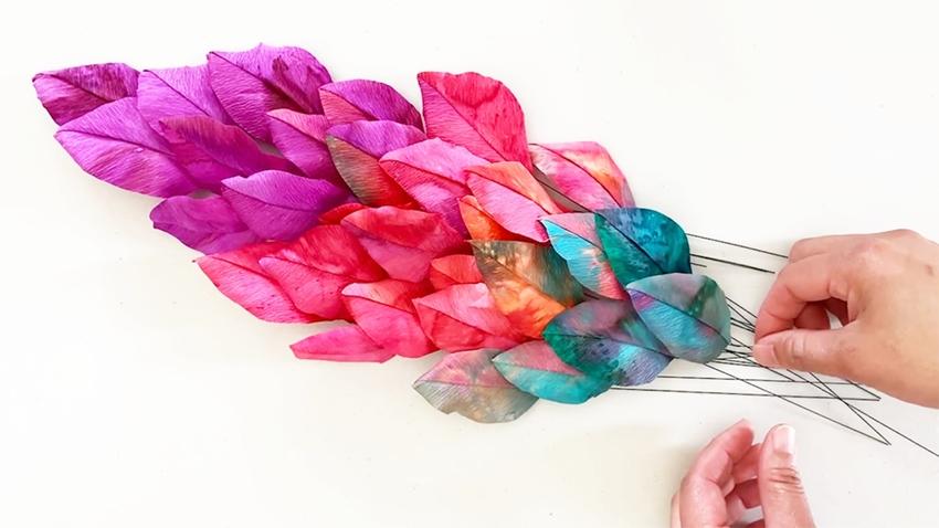 Arrange leaves in color order